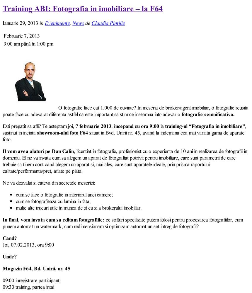Asociatia Brokerilor Imobiliari _ Blog _ Training ABI_ Fotografia in imobiliare - la F64
